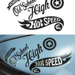 Stickers planche Hot Speed